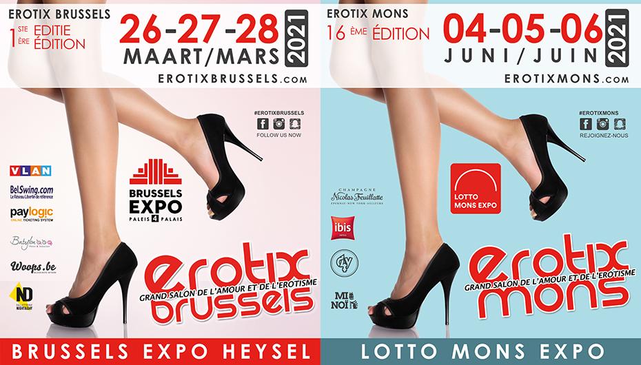 Erotix Brussels 2021 - Les nouvelles Dates